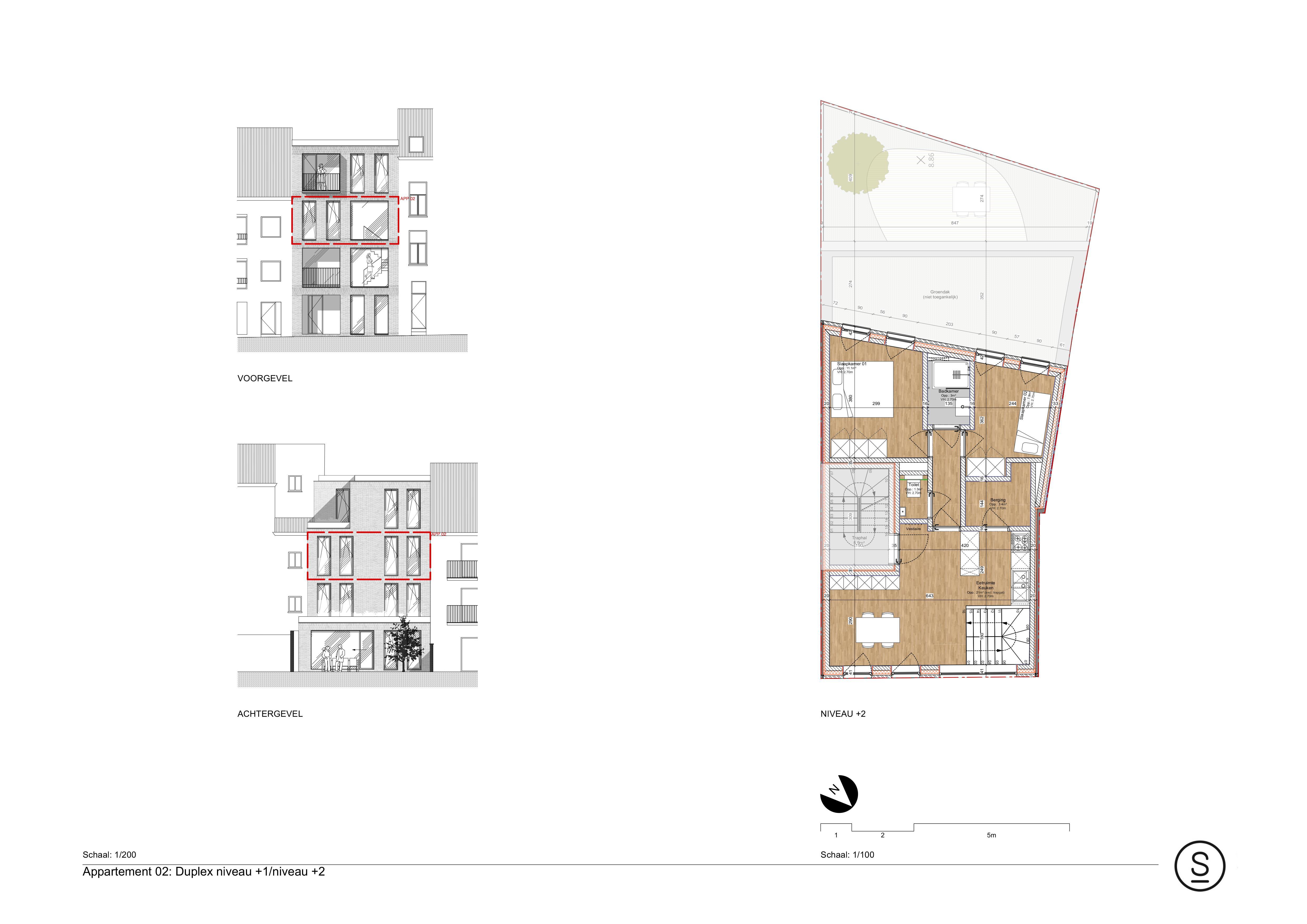 Duplexappartement 2de verdieping