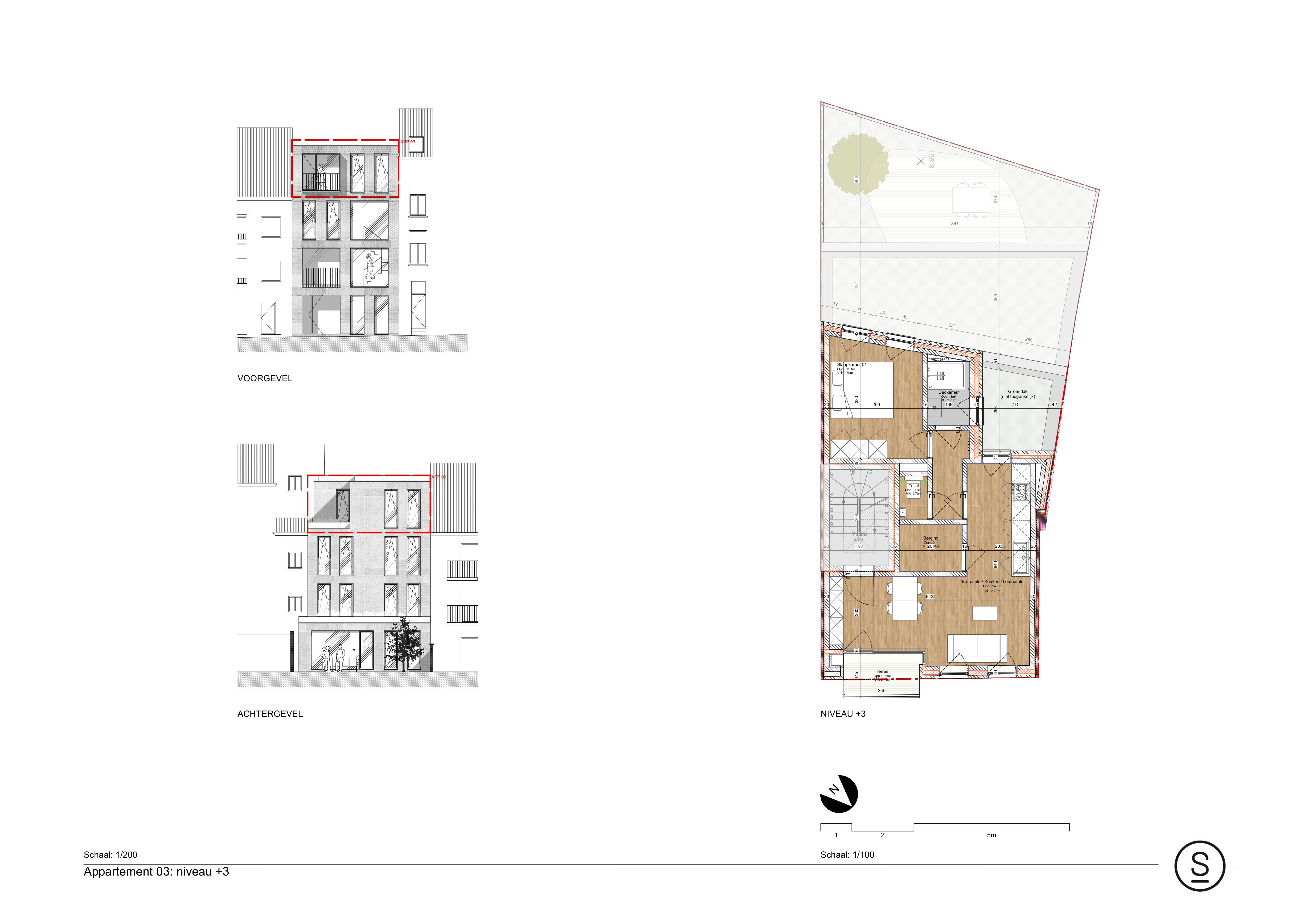 Appartement 3de verdieping